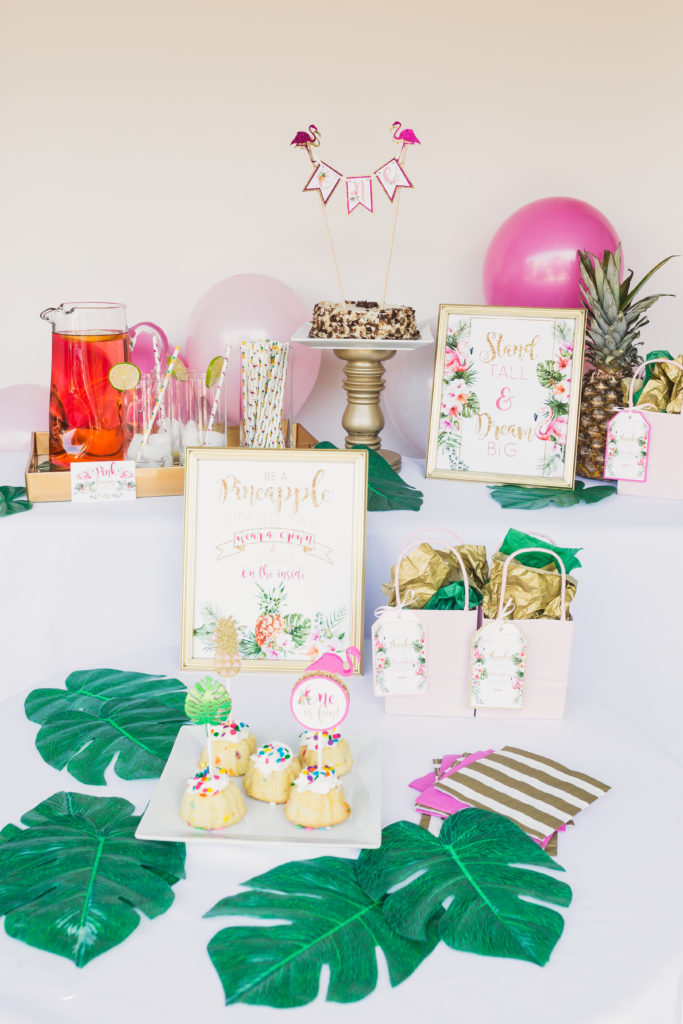 A Flamingo and Pineapple Party by A Touch of LA