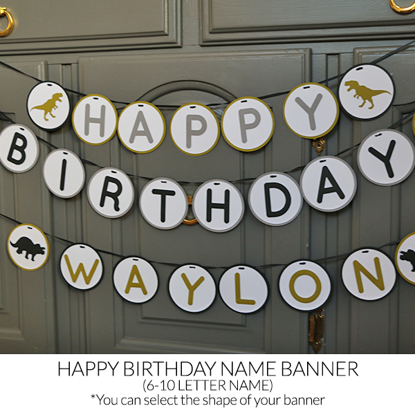 Happy Birthday 6 10 Letter Name Banner Standard 5 Tall