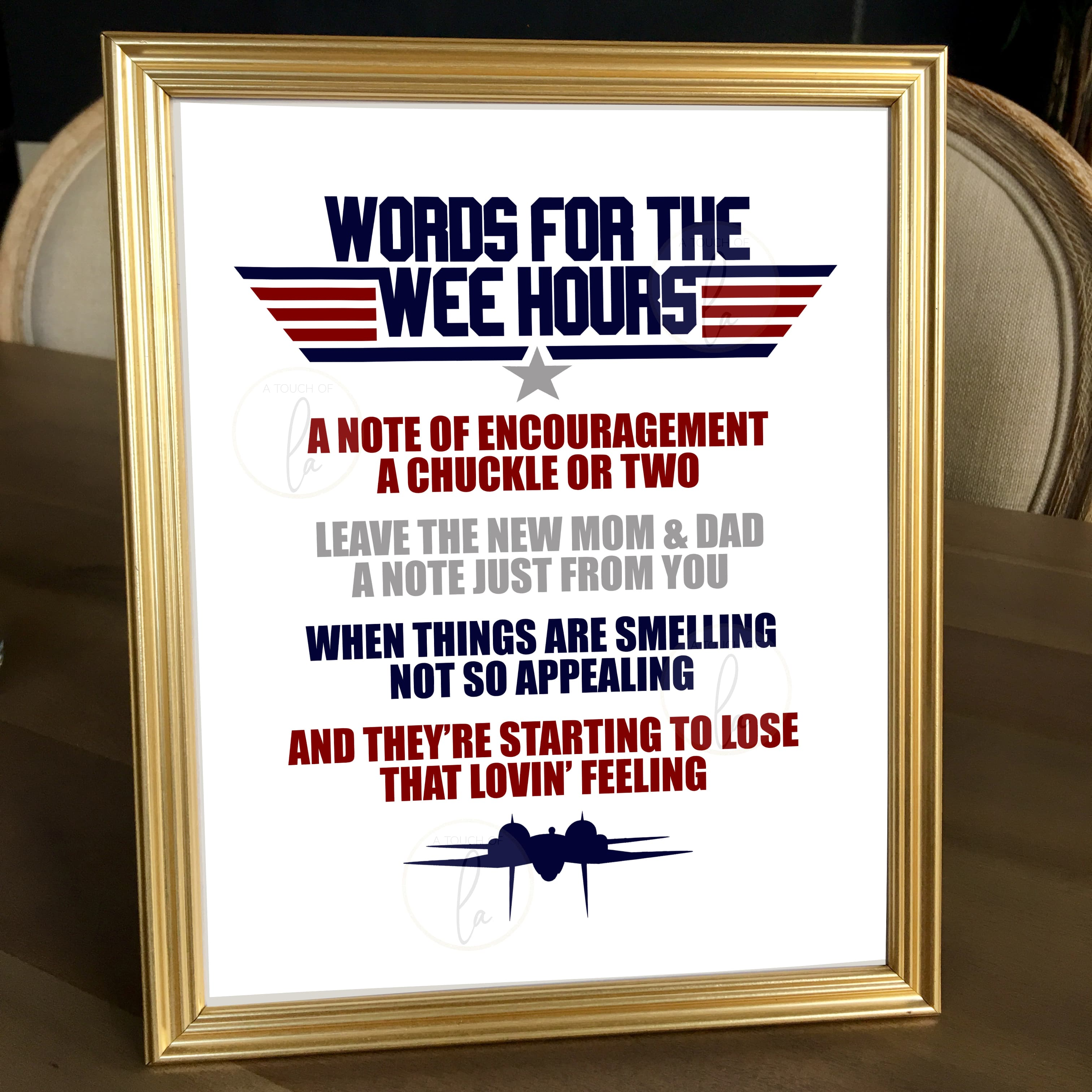 Top Gun Baby Shower Words for the Wee Hours Listing for Etsy