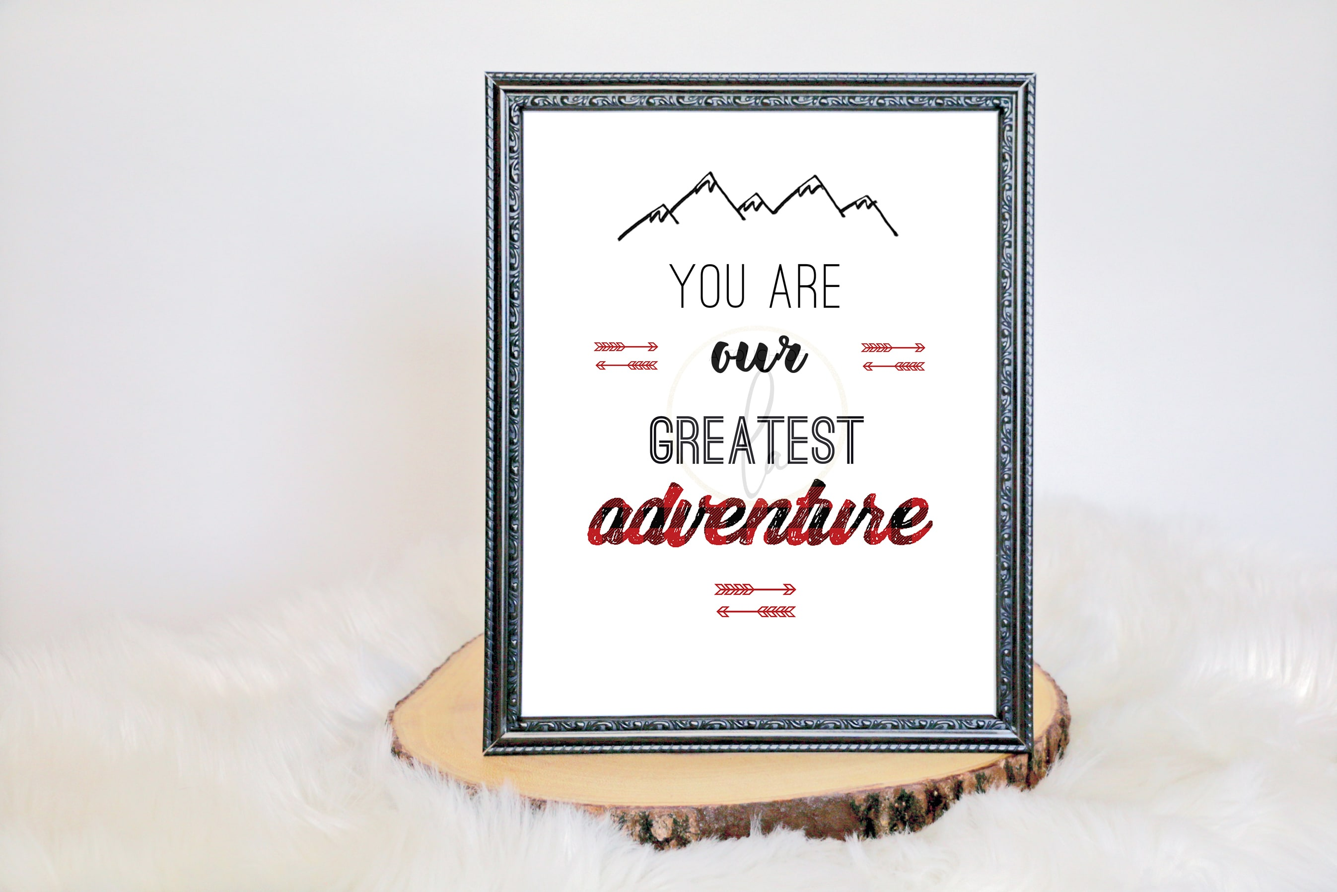 You Are Our Greatest Adventure Buffalo Plaid Sign