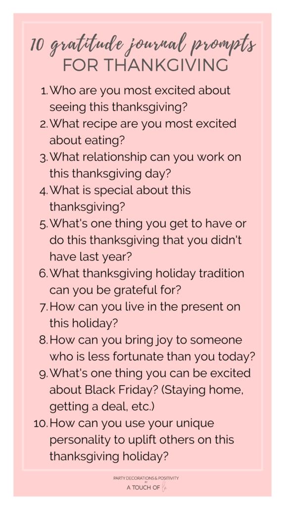 10 Gratitude Journal Prompts for Thanksgiving