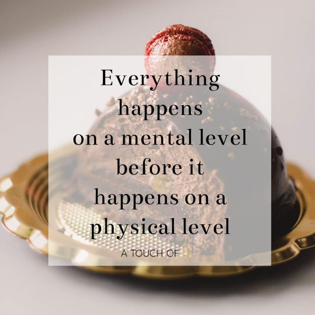 Everything Happens on a mental level before it happens on a physical level.