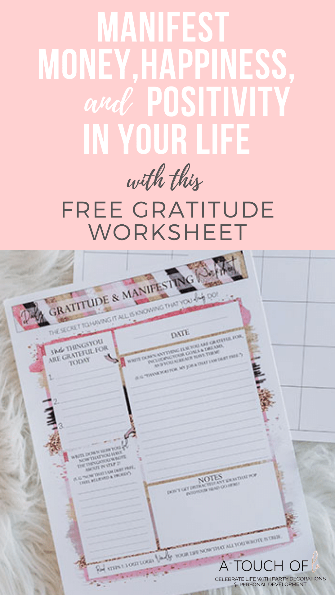 Free Gratitude Journal Printable